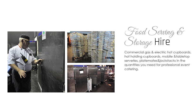Food Serving & Storage Hire