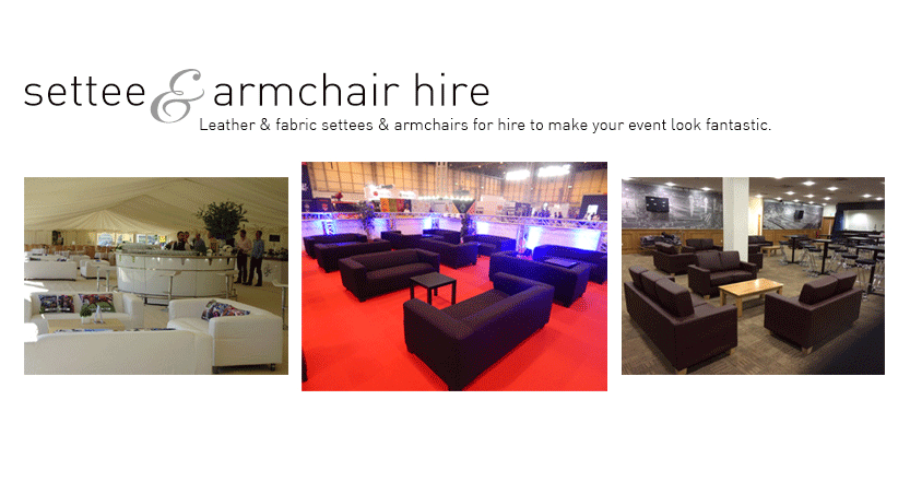 Settee & Armchair Hire
