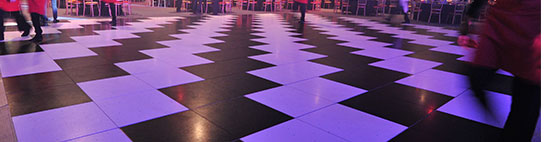 Black & White Dance Floor Hire from Event Hire UK