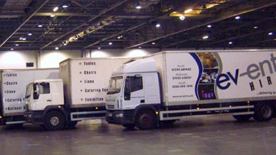 Delivery & Collection Service from Event Hire UK