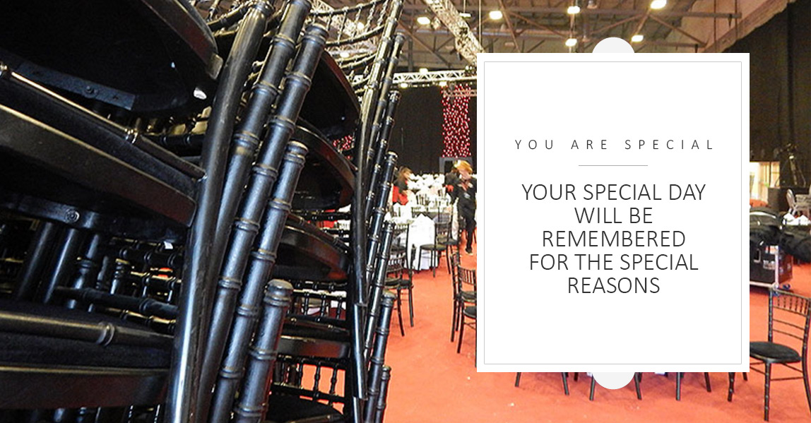 Hire Black Chiavari Chairs from Event Hire UK