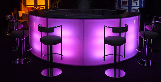 Hire Portable LED Bars from Event Hire UK