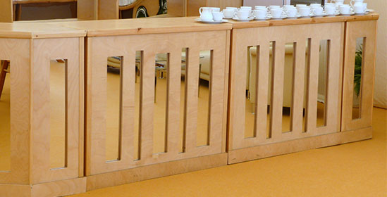 Wooden Mirror Bar Hire from Event Hire UK