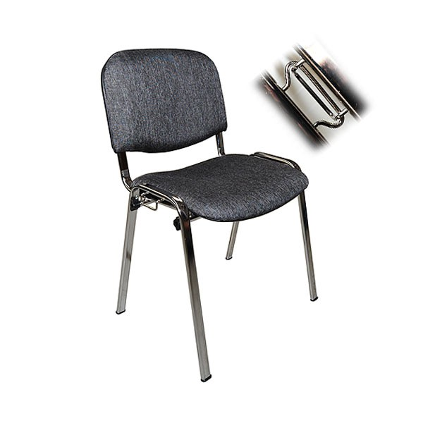 Charcoal Linking ISO Chair Hire
