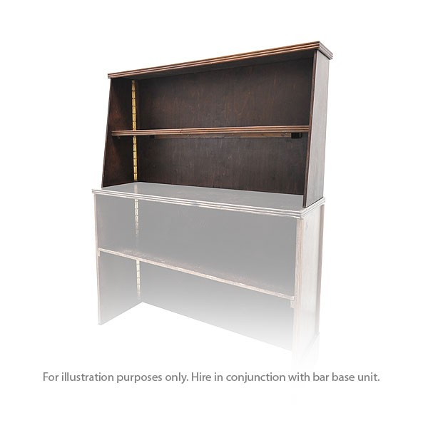 Portable Bar Rear Shelf Unit