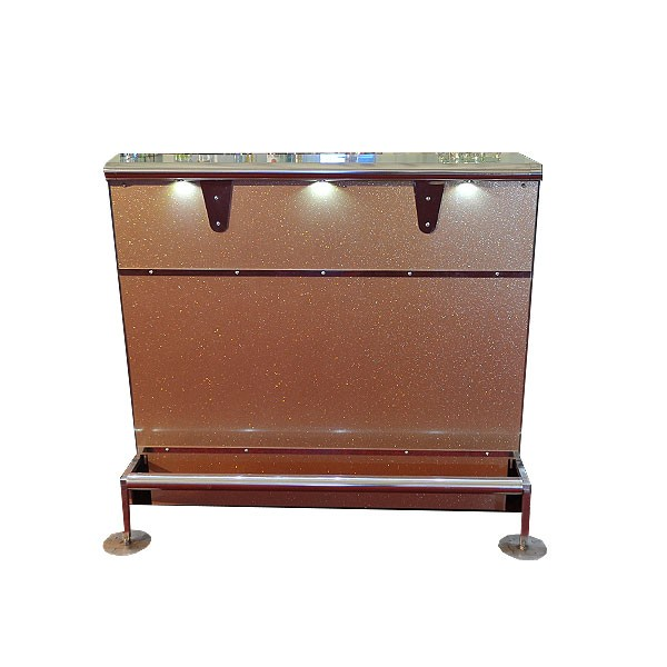 Straight Gold Cocktail Bar Unit
