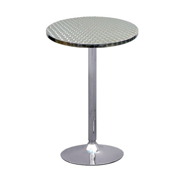 Oro Aluminium Round Poseur Table
