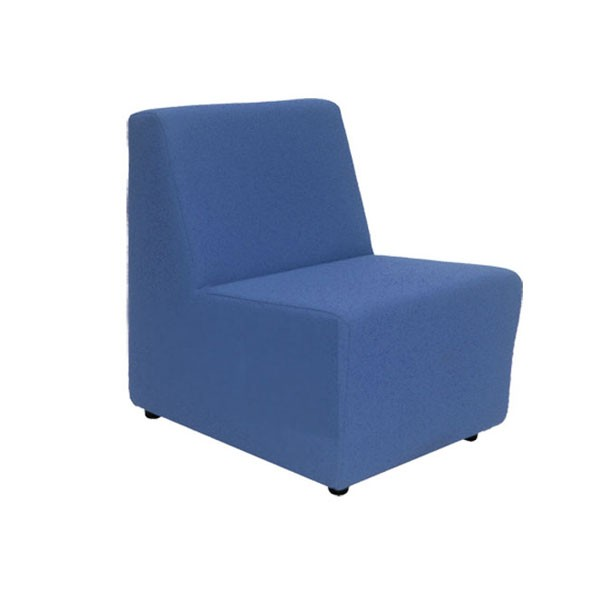 Blue Fabric Unit Chair