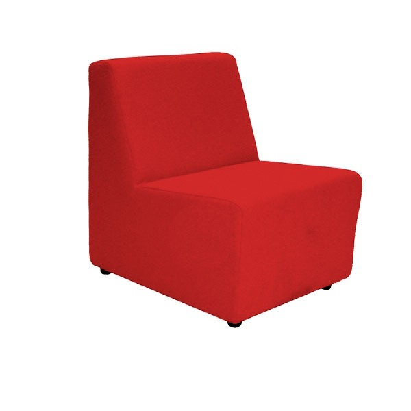 Red Fabric Unit Chair