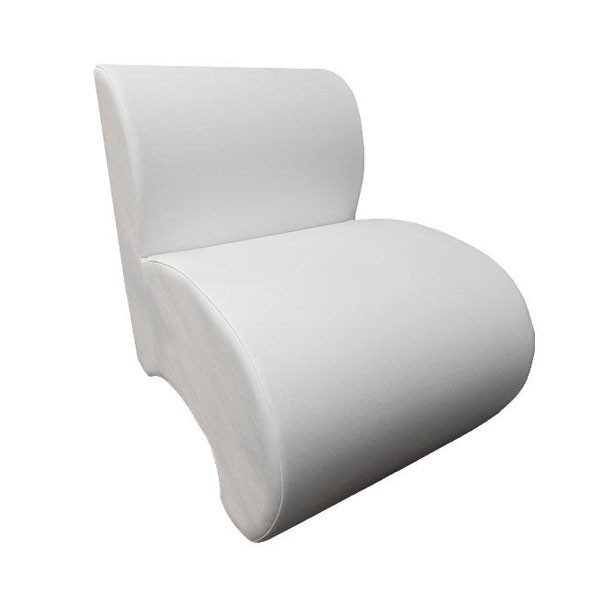 White Leather Unit Chair