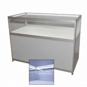 Low Grey Jewellery Showcase With Cabinet