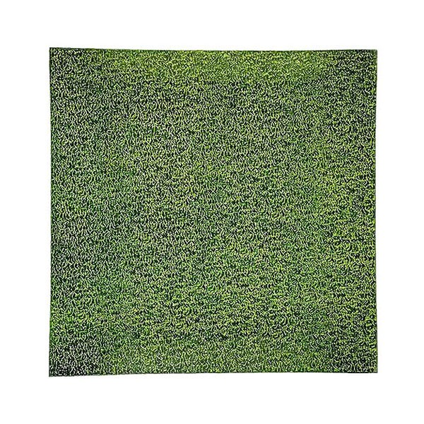 Lime Green Square Glass Charger Plate