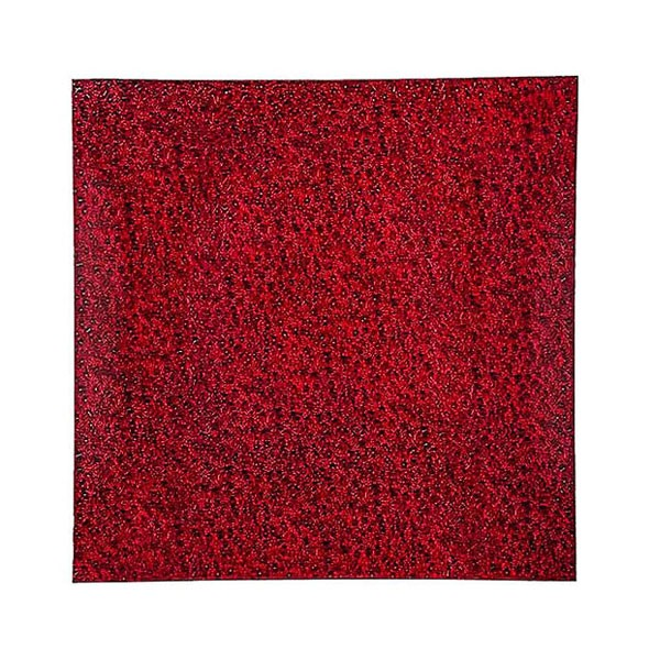 Red Square Glass Charger Plate