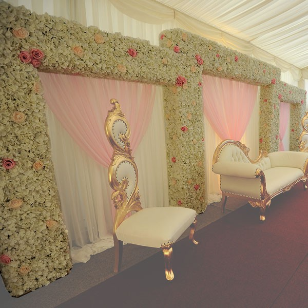 Tiered Flower Wall