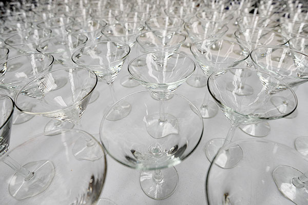 The complete range of cocktail glass hire