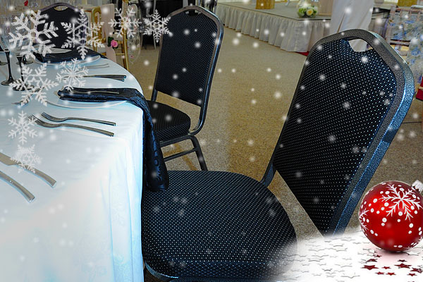 Christmas banqueting chair hire