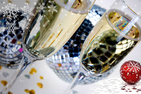 Glassware hire for Christmas and New Year's Eve