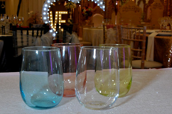 *NEW* Range of Luna coloured water glasses