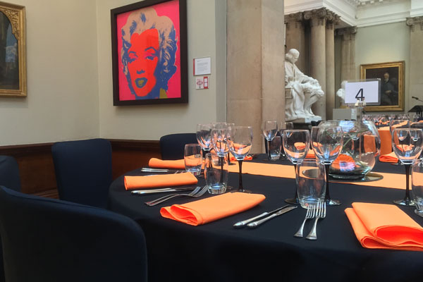 Dining table hire for events