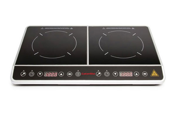 Electric double induction hob hire