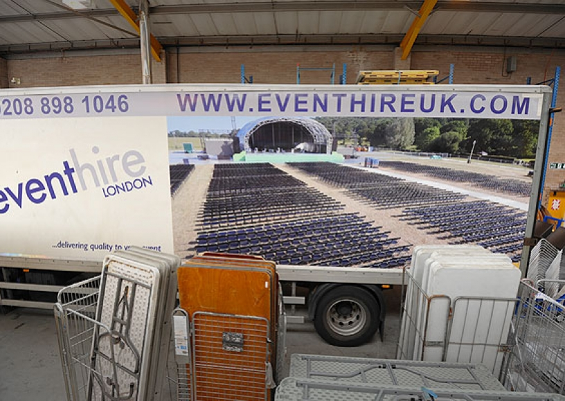 London Event Hire truck livery
