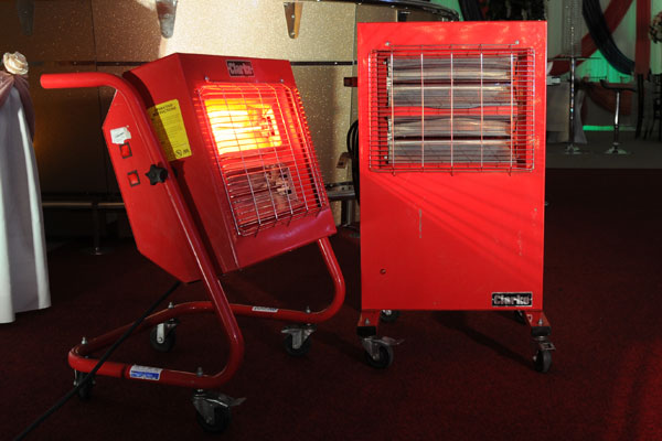 The A-Z of Event Hire: Q is for quartz halogen heater hire