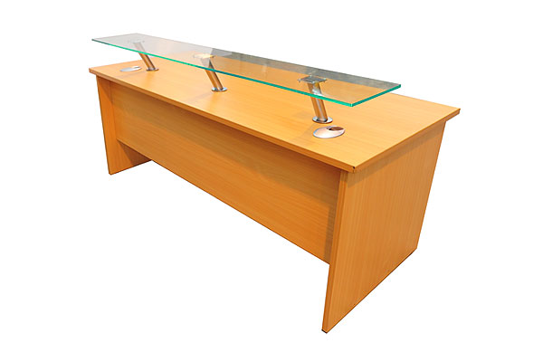 *NEW* Reception desk with front perspex shelf