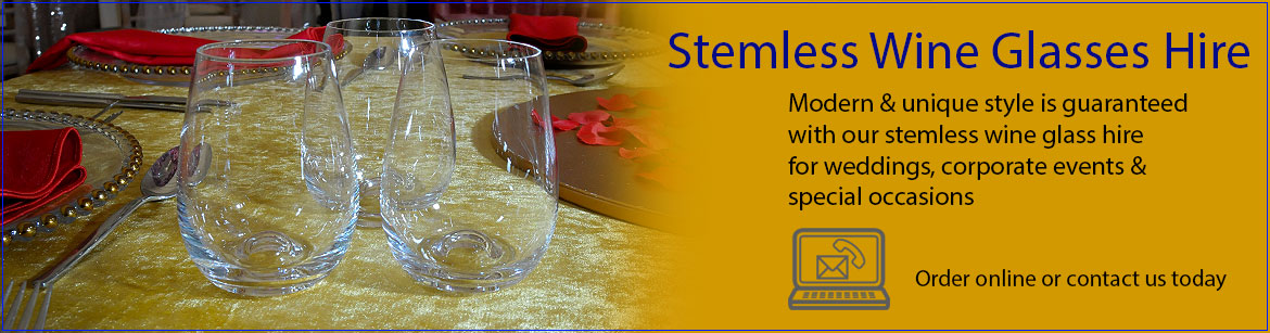 Hire Stemless Wine Glasses