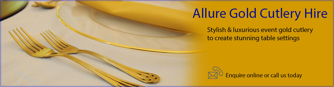 Hire Allure Gold Cutlery