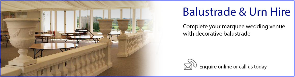 Hire Balustrade & Urns