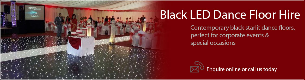 Hire Black LED Dance Floors