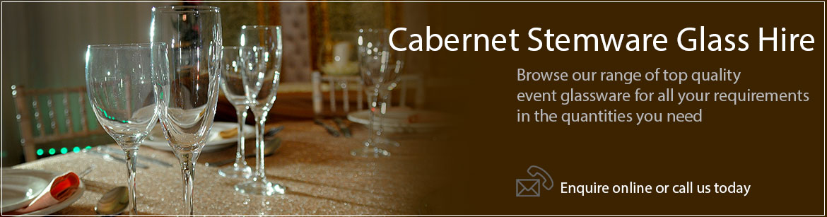 Hire Cabernet Stemware Wine Glasses