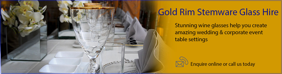 Hire Gold Rim Glassware
