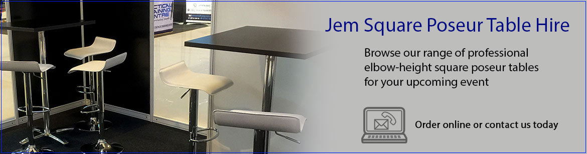 Hire Jem Square Poseur Tables