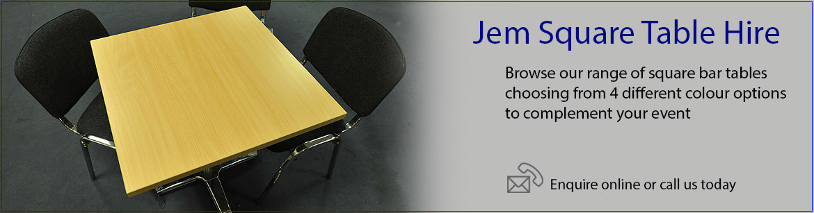 Hire Jem Square Tables