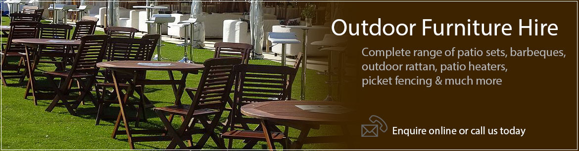 Outdoor furniture hire event hire uk for Furniture hire uk