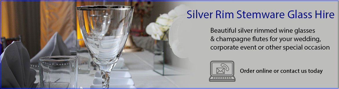 Hire Silver Rim Wedding Glassware