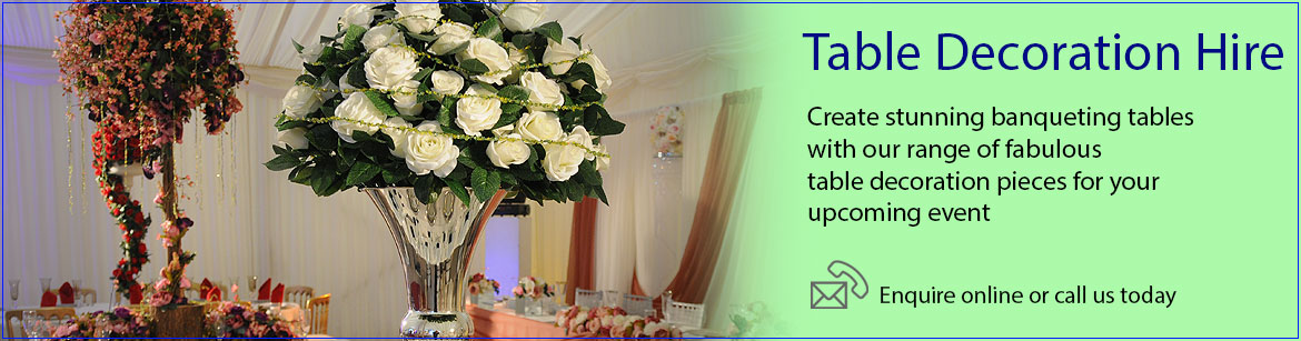 Hire Table Decorations