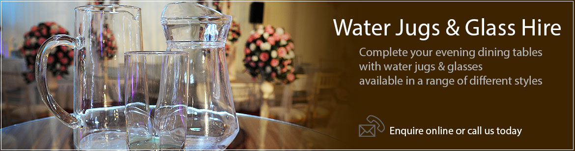 Hire Water Jugs & Glasses