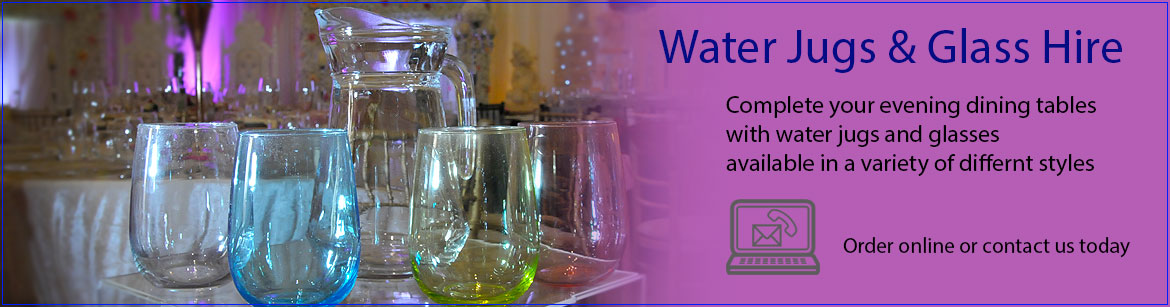 Hire Water Jugs & Hire Water Glasses
