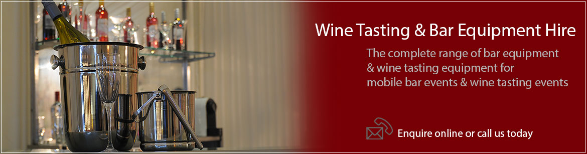 Hire Wine Tasting & Bar Equipment