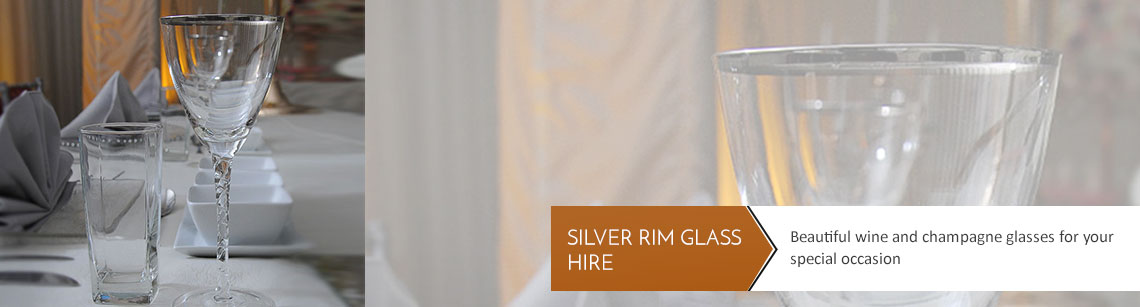 Silver Rim Wine Glass Hire