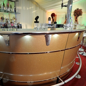 Gold Cocktail Bar Hire
