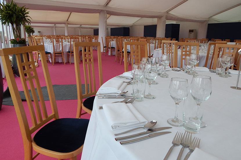 banqueting tables and chairs