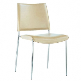 Cream Leather Milan Chair Hire