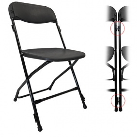 Black Linking Folding Chair Hire