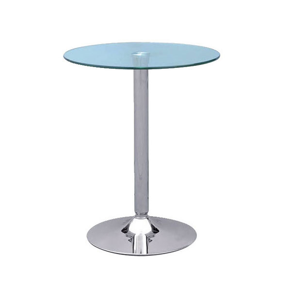 Clear Glass Ammon Poseur Table