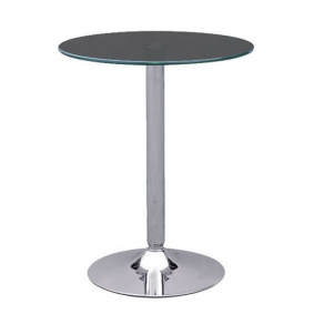 Black Glass Ammon Poseur Table