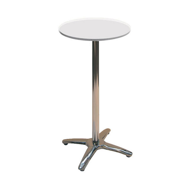 Jem White Round Poseur Table