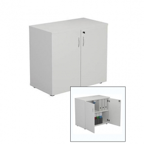 White Lockable Cupboard